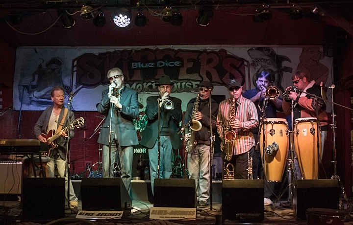 Blues Business UK with Ralph, Bobby, Dale, Carlos Ortiz Trombone & George adding their Soulful Horns
