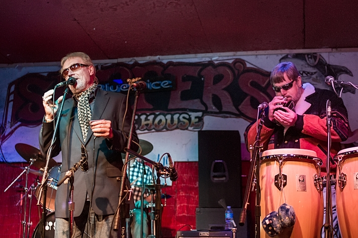 Roger of Blues Business UK singing his Soulful Blues with BDB George on Pocket Trumpet