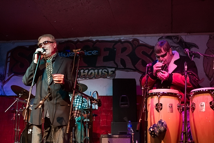 Roger of Blues Business UK Soulfully Entertaining the Crowd at Skippers Smokehouse Tampa, FL. USA