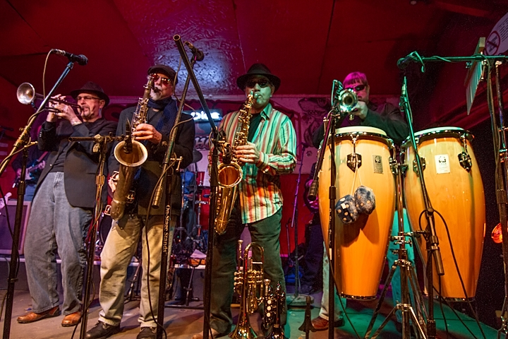 Saavy Blue Dice Horn Section Funkin it up