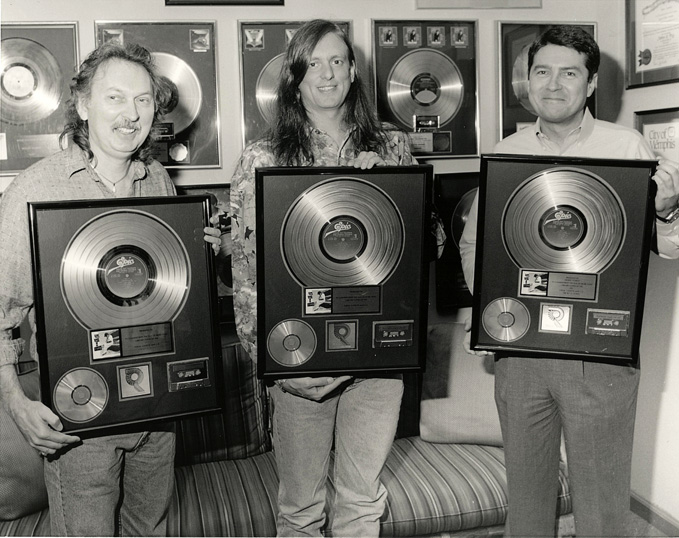 Producer Jim Gaines, Jeff Powell & John Fry