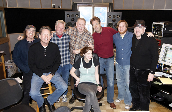 Producer Jim Gaines with Recording Studio Staff Ardent Records Memphis